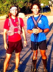 Chris Clemens and Bryan Toro after an all night Nine Trails run