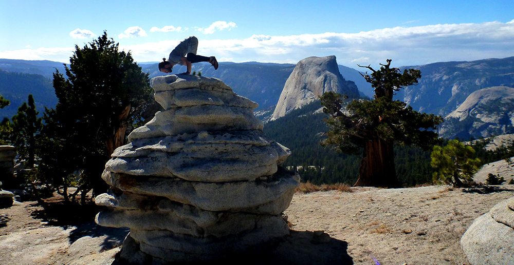 More yoga in Yosemite National Park...maybe I should learn another pose...