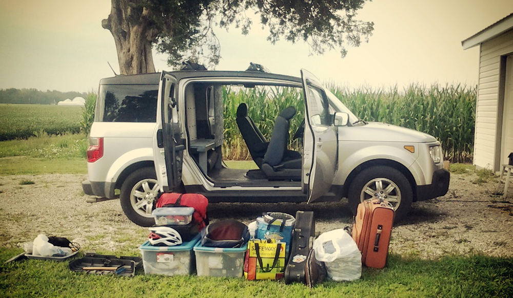 Moving into my Honda Element Home