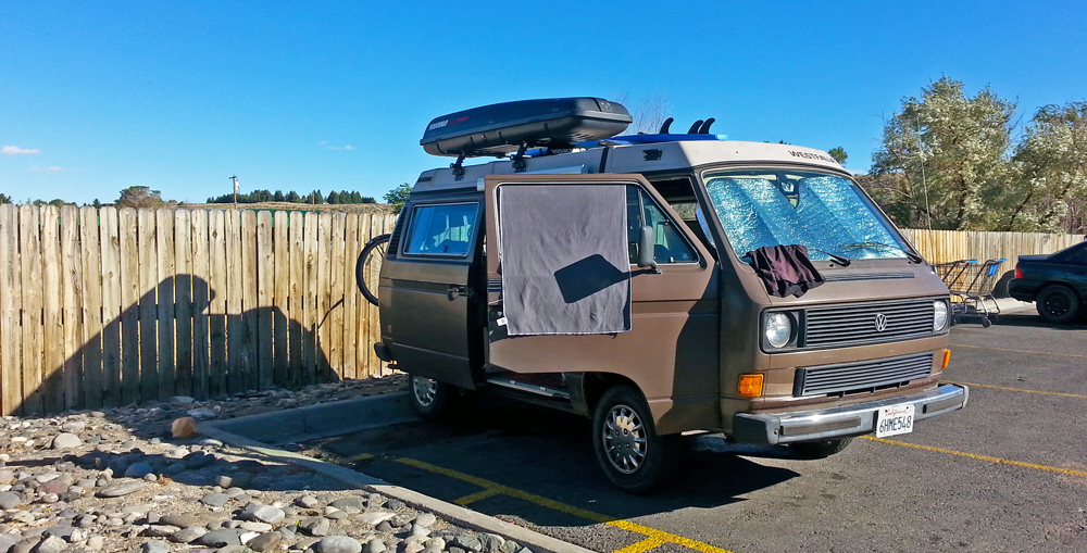 Chris Tarzan Clemens - VanLife Shower Parking Lot