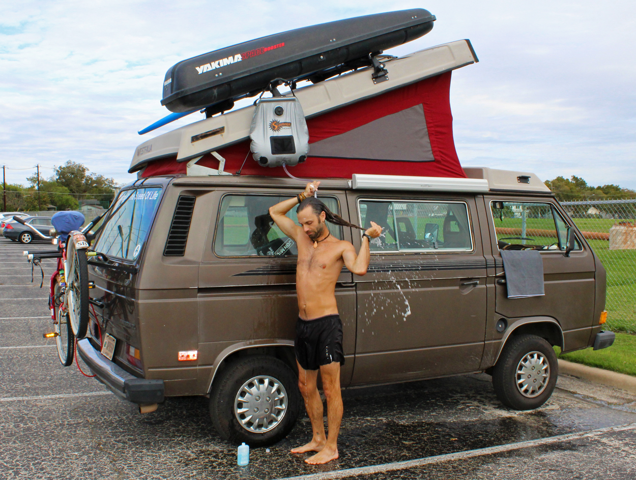 Chris Tarzan Clemens - VanLife Shower